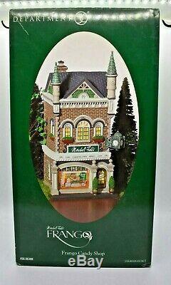 Dept 56 06300 Marshall Field FRANGO Candy Shop Store Christmas Village NEW