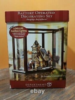 Dept 56 58722 St Stephen Church Steeple Cathedral Victorian Christmas Village