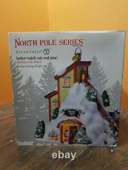 Dept 56 Better Watch Out Coal Mine Santa Naughty Nice Factory Christmas Village