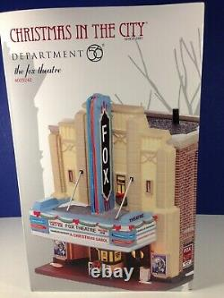 Dept 56 CIC Christmas in the City THE FOX THEATRE 4025242 Brand New! RARE