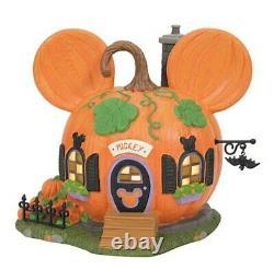 Dept 56 Disney Mickey's Pumpkintown House #6007726 BRAND NEW 2021 Free Shipping