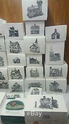 Dept 56 Heritage Collection accessories HUGE LOT 50 pieces collection sale Look