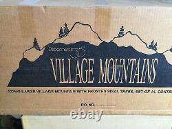 Dept 56 LARGE VILLAGE MOUNTAIN WITH FROSTED SISAL TREES SET OF 14 -BRAND NEW