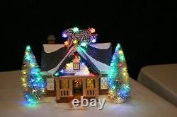 Dept. 56 Snow Village BRITE LITES HOLIDAY HOUSE and MAKING CHRISTMAS BRITE