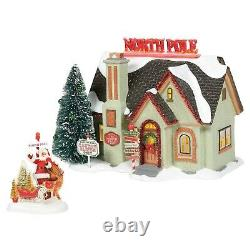 Dept 56 Snow Village Christmas Lane THE NORTH POLE HOUSE SET OF 2 6005449 2020