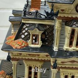 Dept 56 Snow Village Halloween 1999 GRIMSLY MANOR #55004 Retired 2009 NO SOUND