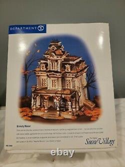 Dept. 56 Snow Village Halloween 1999 Grimsly Manor Retired (Sound & LIghts Work)