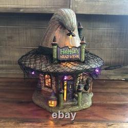 Dept 56 Snow Village Halloween Hatties Hat Shop 4056700 Retired And Rare