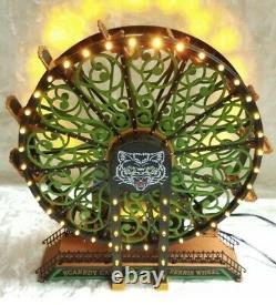 Dept 56 Snow Village Halloween Scaredy Cat Ferris Wheel #53208 New In Box