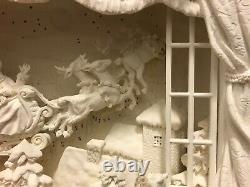 Dept 56 village holiday Silhouettes Dash Away all 78648 window sleigh santa
