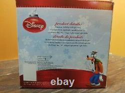Disney Dept 56 Goofy Gas Station Mechanic Shop Mickey Merry Christmas Village
