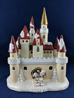 Disney Mickey & Minnie Victorian Village Light Up CASTLE