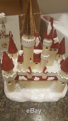 Disney Mickey & Minnie Victorian Village Light Up CASTLE w Box & Cord HTF RARE