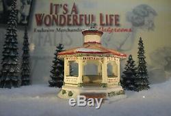 ENESCO ITS A WONDERFUL LIFE VILLAGE- Bedford Falls Gazebo item 400950 (NO BOX)