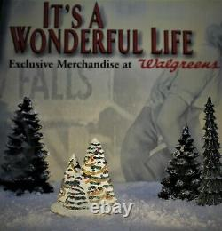 ENESCO ITS A WONDERFUL LIFE VILLAGE Christmas Trees item 4007146 (no Box)