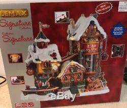 elf made toys lemax michaels signature christmas village animated sounds new - Michaels Christmas Village