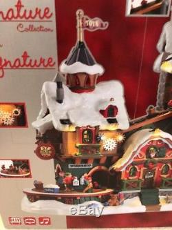 elf made toys lemax michaels signature christmas village animated sounds new - Christmas Village Sets Michaels