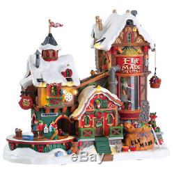 Elf Made Toys Lemax Signature Christmas Village Animated Sights Sounds NEW