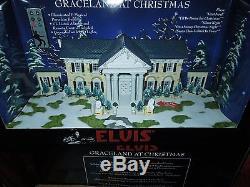 Elvis Presley Graceland at Christmas LED Illuminated & Musical Porcelain Buildin