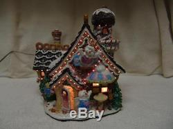 FIBER OPTIC CANDYLAND VILLAGE HOUSE WithCOOKIES/TREES/PEOPLE & MUCH MORE