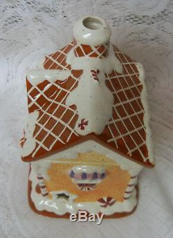 GINGERBREAD House BOY GIRL CHRISTMAS Lighted Votive Candle Village Valley Rare