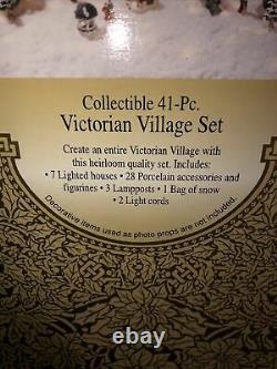 GRANDEUR NOEL COLLECTIBLE 41 PC. VICTORIAN VILLAGE SET Complete