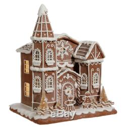 Gingerbread Cream House Church 12 Christmas Decoration Raz 3716221