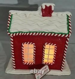 Gingerbread Man Red House Large Christmas Light Up Clay-dough 10 Kurt Adler