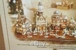 Grandeur Noel 34-piece Victorian Village 2000 Collector's Edition Christmas Euc