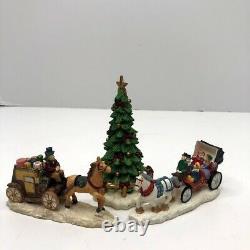 Grandeur Noel 41 Piece Victorian Village lighted Christmas House Set