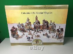 Grandeur Noel Collectible 41-pc Piece Victorian Christmas Village Set