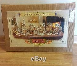 Grandeur Noel Collectors Edition 2000 VICTORIAN CHRISTMAS VILLAGE Houses BOX