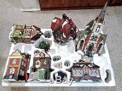 Grandeur Noel Collectors Edition 39 Pc Victorian Village Christmas 1999 Complete