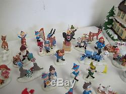 Village Rudolph's Christmas Town Huge Lot Bumble's Accessory Figures