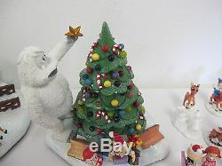 Hawthorne Village Rudolph's Christmas Town Huge Lot Bumble's Accessory Figures