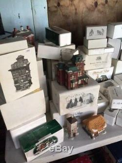 HUGE Collection of a Department 56 Dickens Christmas Village 100+ Pieces