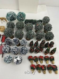 HUGE Lot of 100+ Department 56/Lemax Accessories Figurines Animals Christmas