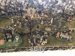 Halloween Village Display Platform For Lemax Spooky Town -Large 3 Sections