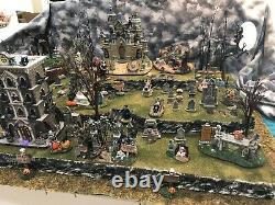 Halloween Village Display Platform Large Cemetery For Your Spooky Town Village
