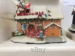 Simpsons Christmas Village.Hawthorne Simpsons Christmas Village Complete Set 30 Pieces