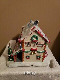 Hawthorne Simpsons Christmas Village SPRINGFIELD RETIREMENT CASTLE WithCOA