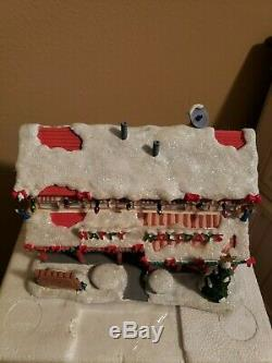 Hawthorne Simpsons Christmas Village SPRINGFIELD RETIREMENT CASTLE WithCOA