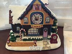 Hawthorne Village Rudolph's Christmas Town Christmas Clock Shop Rare MIB