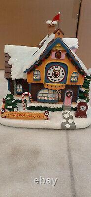 Hawthorne Village Rudolph's Christmas Town, Clock Shop NEW RARE