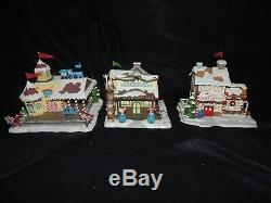 Hawthorne Village Rudolph's Christmas Town Complete Set