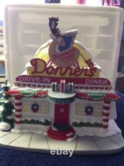 Hawthorne Village Rudolph's Christmas Town Donners Diner NIB Sealed