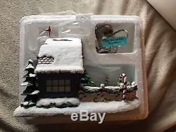 Hawthorne Village Rudolph's Christmas Town Ice Skating Rink, Brand New With COA