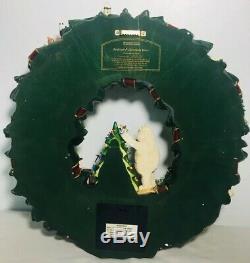 Hawthorne Village Rudolph's Christmas Town Illuminated Lighted Wreath Rare