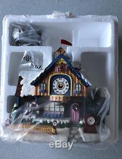 Hawthorne Village Rudolphs Christmas Town Collection Clock Shop