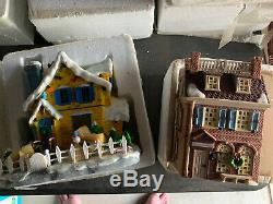 Hawthrone Village Christmas Disney Lot Of 4 House Light Up Vintage